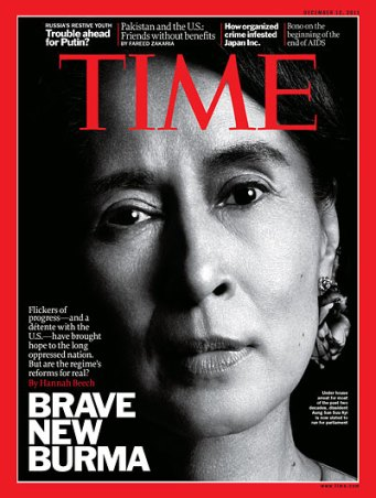 Aung San Suu Kyi on the cover of TIME magazine in 2011. Credit: Platon for Time