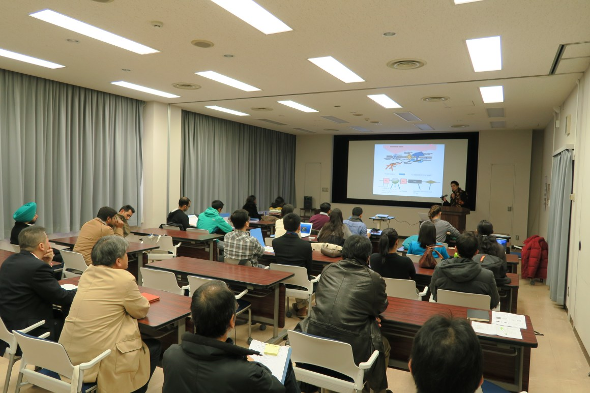 Hina Bhat at a conference in Japan in 2014. Source: Author provided