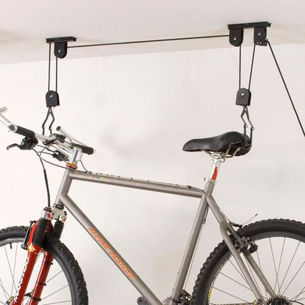 New Bike Bicycle Lift Ceiling Mounted Hoist Storage Hanger