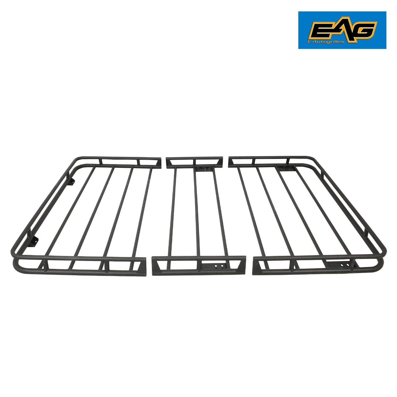 Eag Black Steel Roof Rack Cargo Basket For 07 17 Jeep