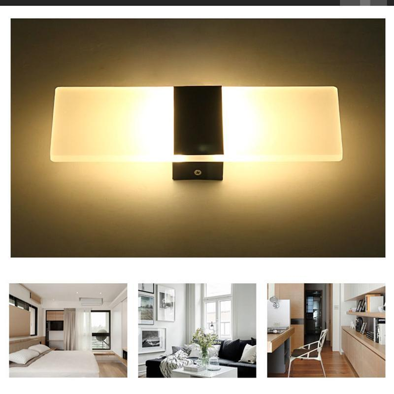 Modern LED Wall Light Up Down Cube Indoor Outdoor Sconce ... on Modern Indoor Wall Sconce id=11401