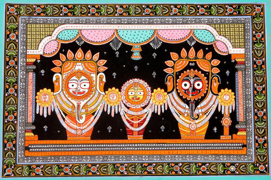 Pattachitra painting of Lord Jagannath