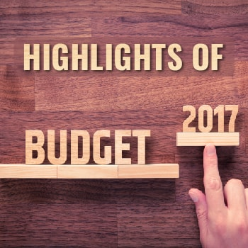Highlights budget 2017