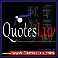 QuotesLuv Website Logo Design 4A. Black Theme. Small Image Size:100x100 px