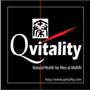 Qvitality: Natural Health for Men at Midlife. Branding Logo Design 5A. Image size:300x300px