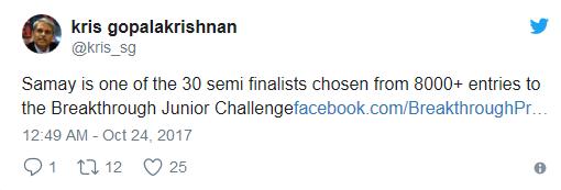 SHAHSHI THAROOR TWEET SAMAY GODIKA CHALLENGE BREAKTHROUGH