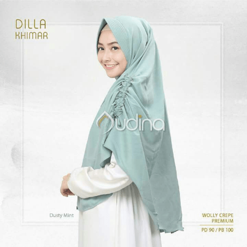khimar audina, hijab mint, hijab dusty