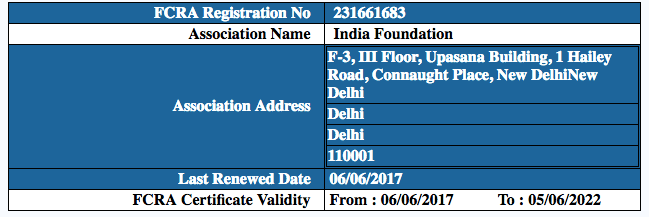 IndiaFoundation-FCRA