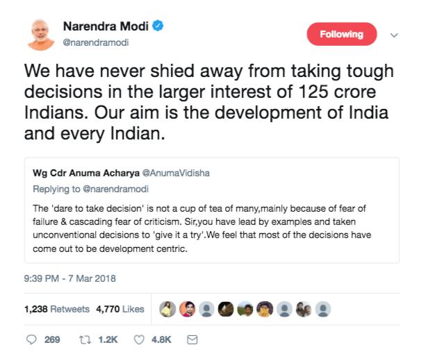 Modi-Tweet-Compliements