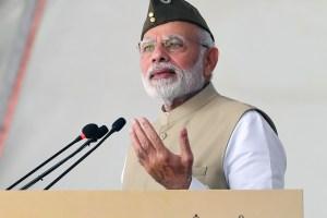 آزاد ہند حکومت کی 75ویں سالگرہ کے پروگرام میں وزیر اعظم نریندر مودی (فوٹو : پی آئی بی)