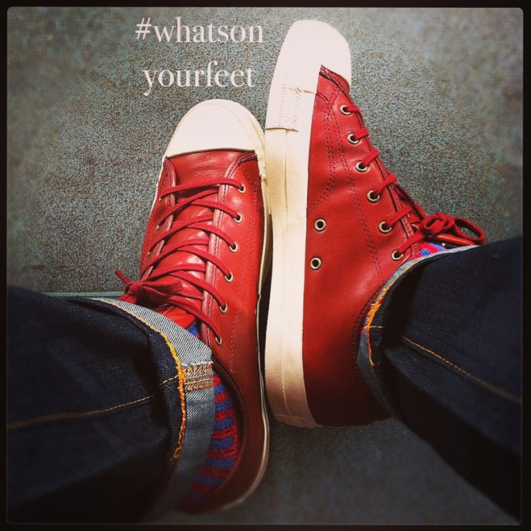 What's on my feet: My leather Converse shoes that I picked up for a bargain! Why: I loved the colour and have always been a huge fan of Converse! Riaan's View: I personally feel that I've grown out of the classic canvas Converses, but this leather pair is an interesting, more sophisticated take on the shoe! I love how the red stands out so well against the striped socks and blue denim! A winner!