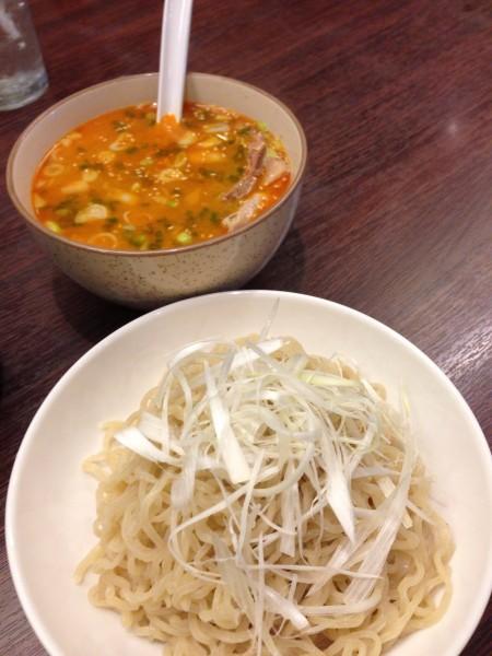 Karashimiso Tsukemen บะหมี่เย็น ซุปเผ็ด