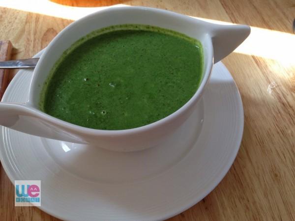 ซุปปวยเล้งผักโขม