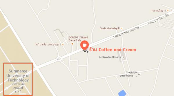 แผนที่ร้าน Coffee Cream