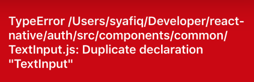 react native duplicate declaration
