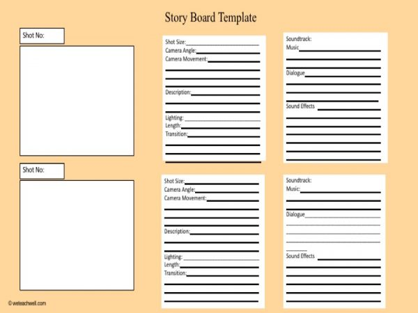 Film As Text Storyboard Template We Teach Well