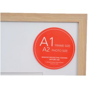 poster frame a1 with a2 opening oak