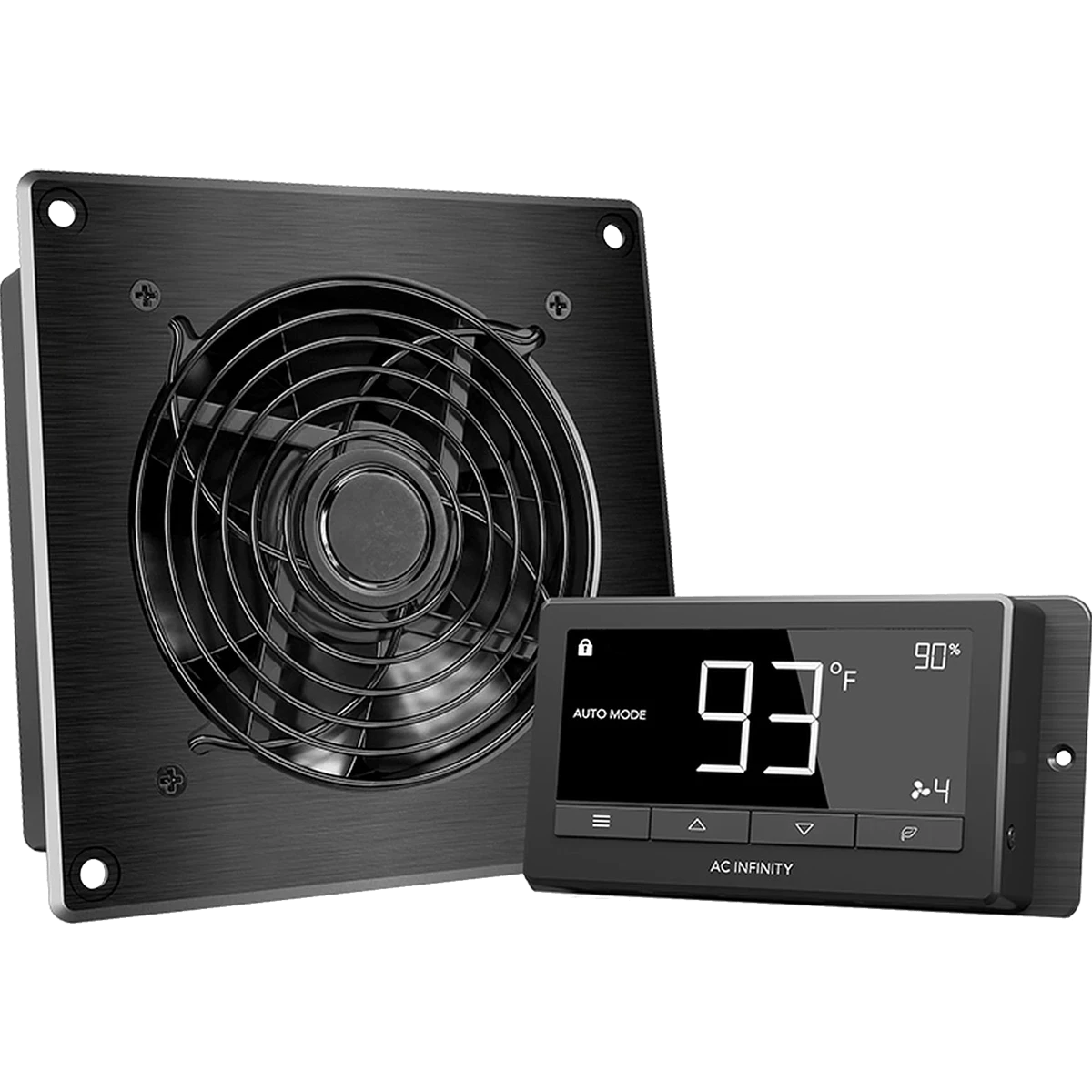 ac infinity airtitan t3 6 in ventilation fan w temperature humidity controller