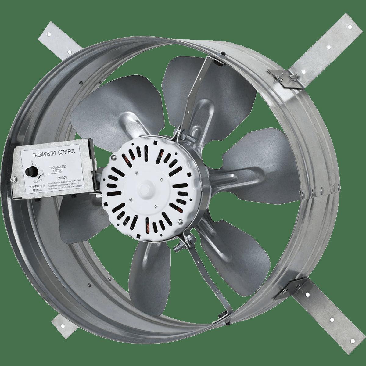 iliving automatic gable mount attic ventilator fan w adjustable thermostat