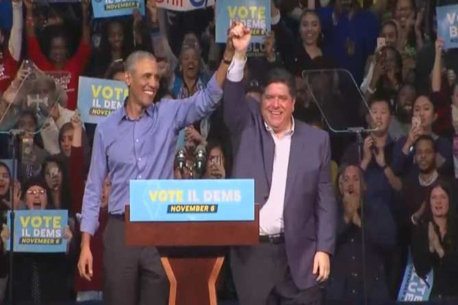 Image result for OBAMA RALLY IN CHICAGO 2018