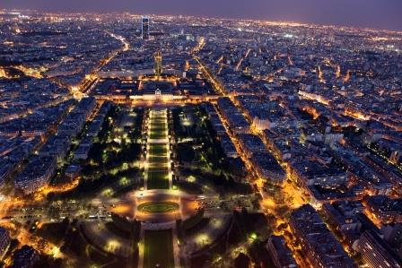 Paris from the Eiffel Tower Night