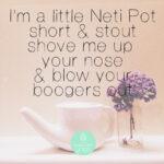Neti Pot, voor complete neus reiniging!
