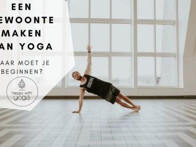 Gewoonte maken van yoga