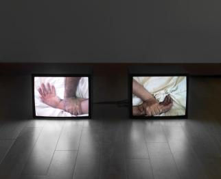 A Divided Self I and A Divided Self II 1996 by Douglas Gordon born 1966