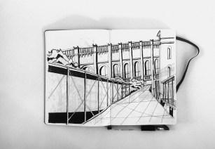 Hand Sketch _ 0.4 Black Ink Pen _ Location _ Biblioteca de la Ciutadella, Barcelona