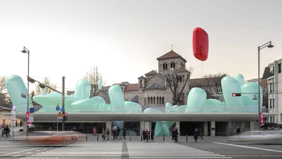 inflatable garden in seoul