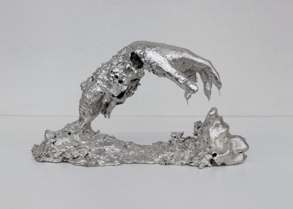 young joon silver sculpture