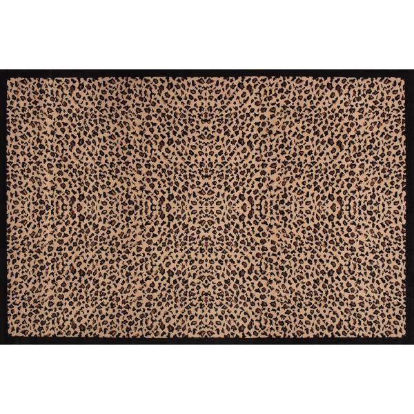 casa lopez tapis leopard motif