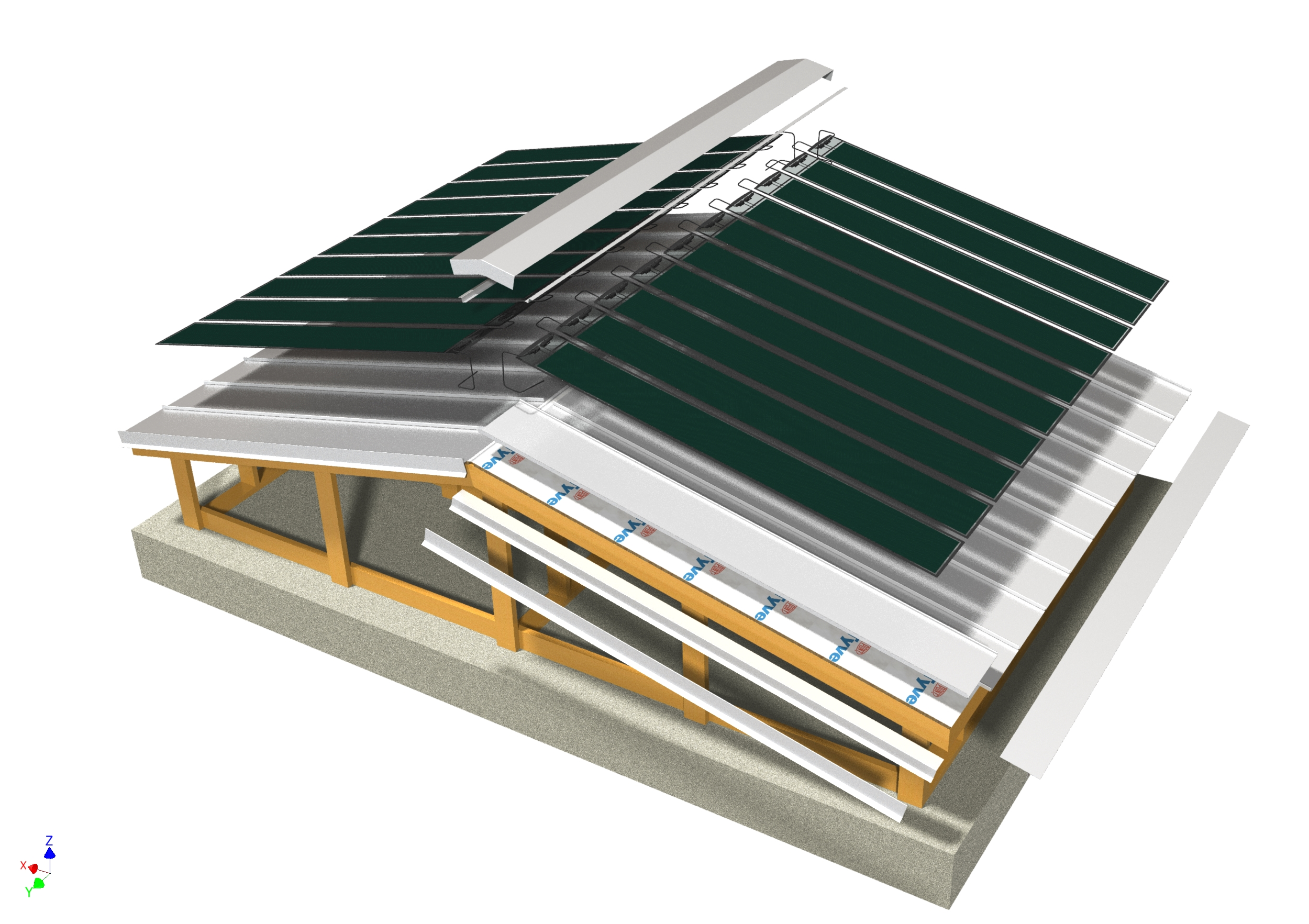 Cross Section Photovoltaic System
