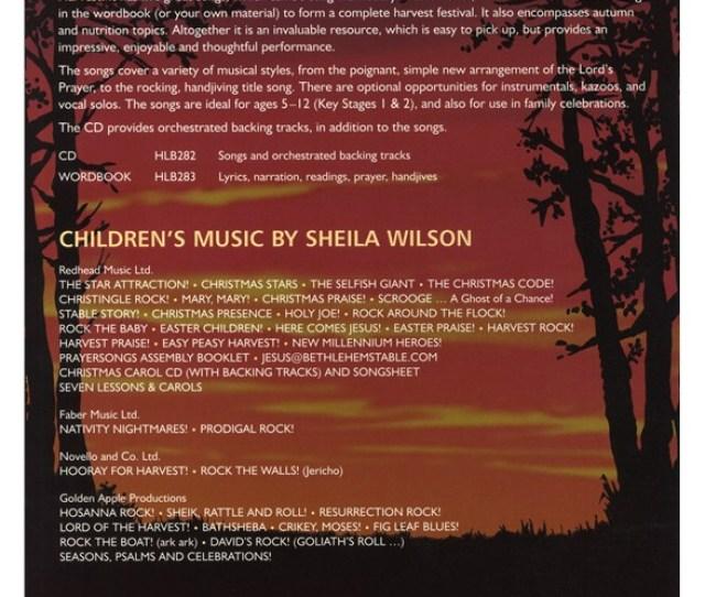 Music Book Sheila Wilson Harvest Its A Little Bit Corny