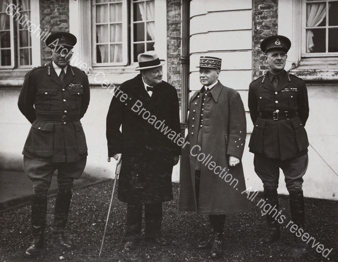 Photo shows General Ironside [Chief of Imperial General Staff]