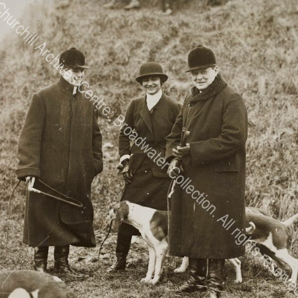"Photograph of WSC with Randolph Churchill and [Gabrielle] ""Coco"" Chanel in [? Dampierre"