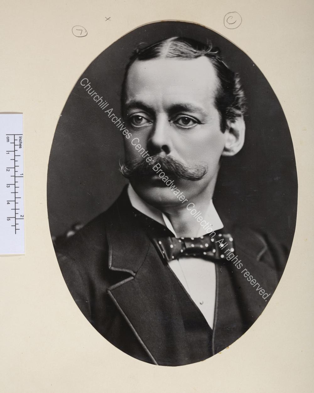Oval portrait photograph.