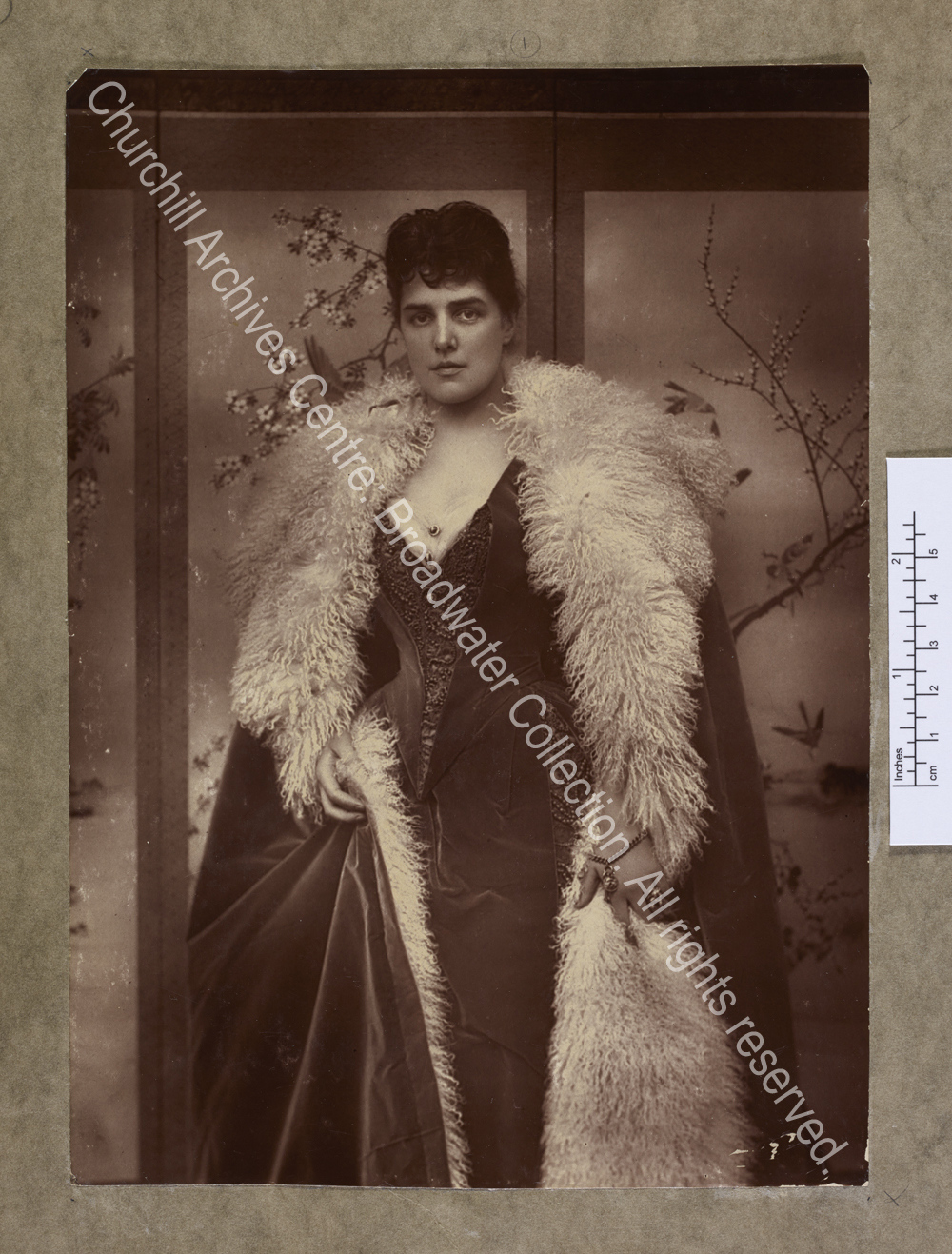 Three-quarter length photograph of Lady Randolph [earlier Jennie Jerome]