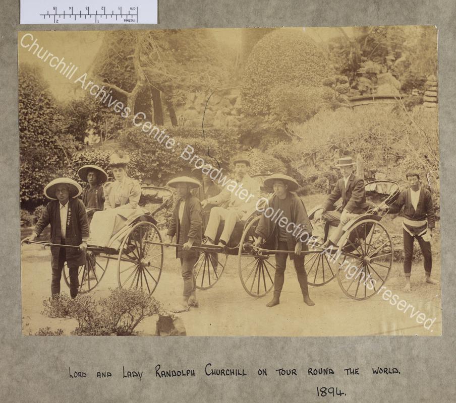 Photograph from Japan of Lady Randolph Churchill [earlier Jennie Jerome]