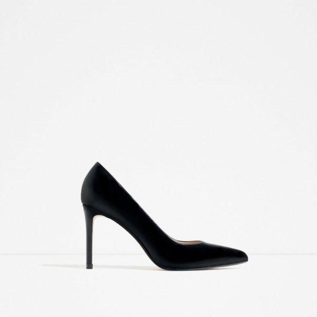 ClioMakeUp-scarpe-star-occasione-festa-abito-matrimonio-red-carpet-low-cost-tacchi-neri-punta-zara-49-95