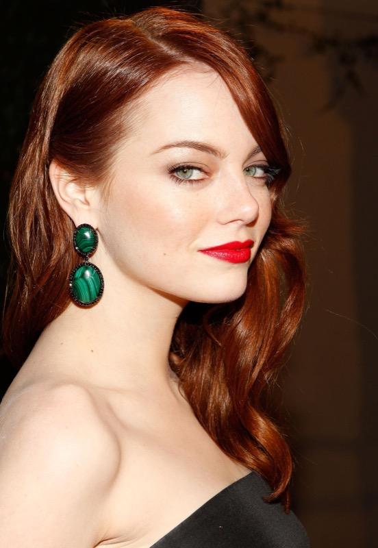 ClioMakeUp-trucco-rossa-occhi-verdi-rossetto-rosso-emma-stone-cover