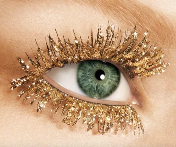 cliomakeup-ciglia-glitter-prodotti-mascara-look-oro