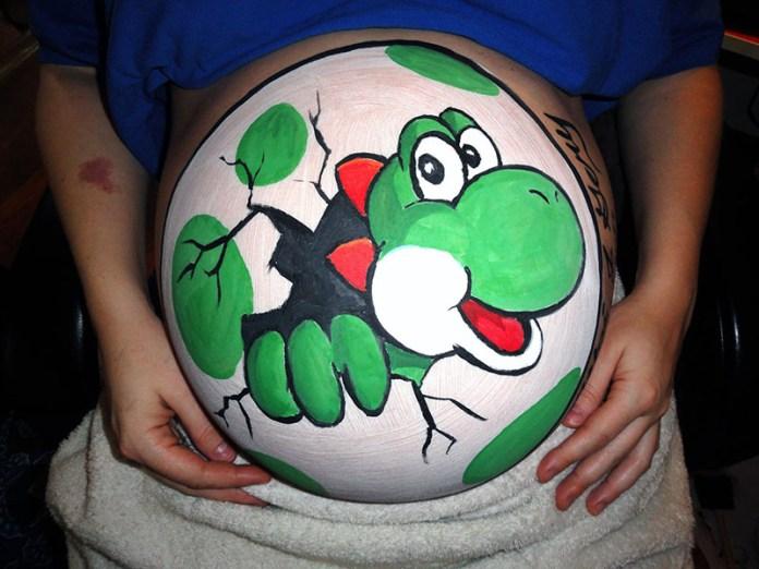 cliomakeup-prima-festa-della-mamma-belly-painting-yoshi-5