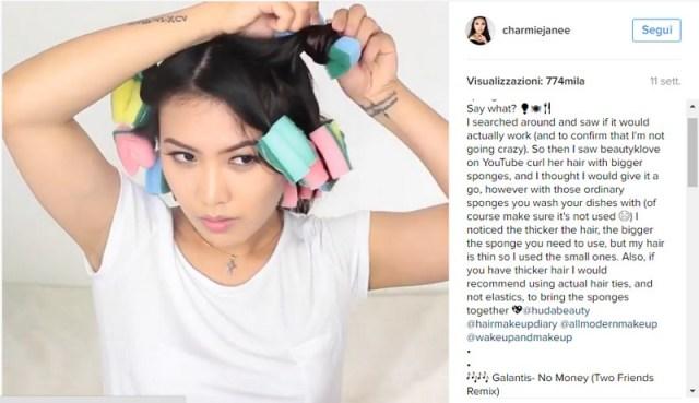 ClioMakeUp-capelli-ricci-metodi-fai-da-te-evitare-spugnette-due