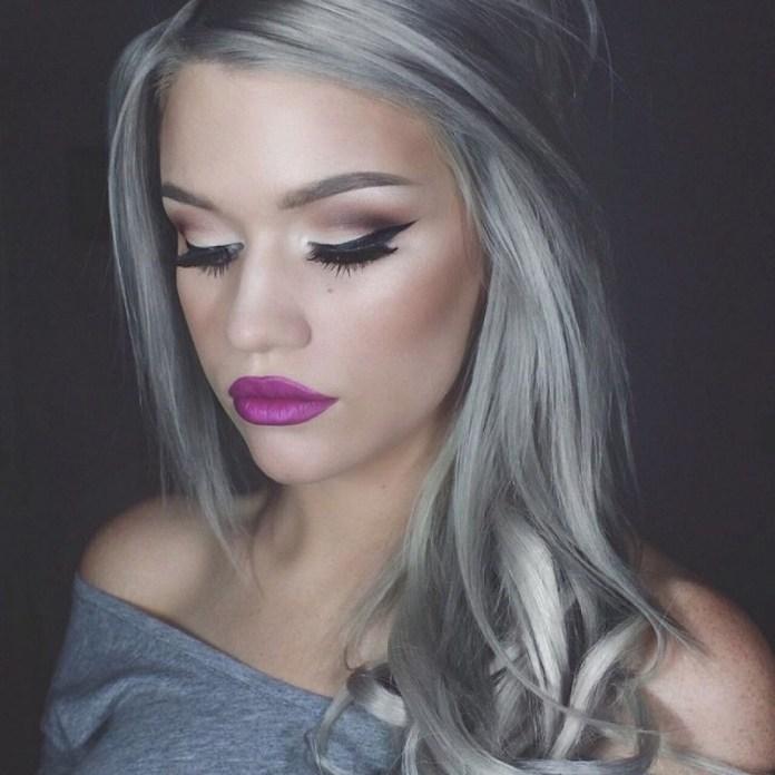 ClioMakeUp-trend-capelli-ombre-hair-grey-idee-makeup-purple