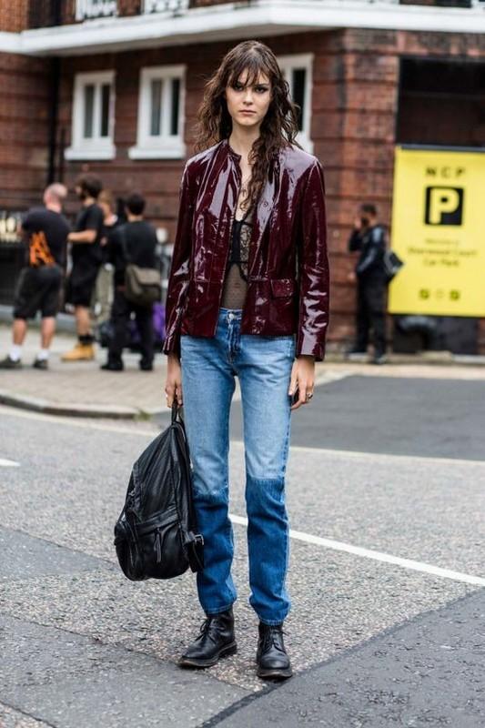 ClioMakeUp-street-style-fashion-week-londra-giacca-bordeaux