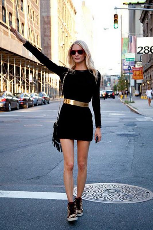 ClioMakeUp-look-total-black-cintura-gold
