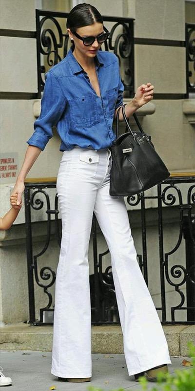 ClioMakeUp-pantaloni-zampa-jeans-flared-bianchi