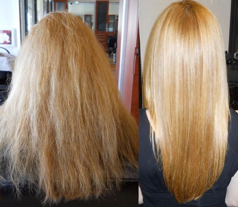 Maschera alla cheratina per capelli ricci