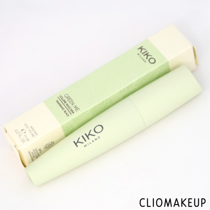 cliomakeup-recensione-mascara-kiko-green-me-volume-mascara-2